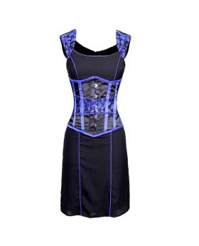 Sacagawea Authentic Steel Boned Underbust Corset Dress