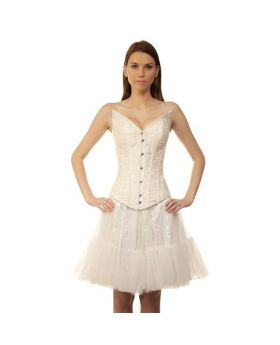 Quasshie Authentic Steel Boned Long Lined Overbust Corset Dress