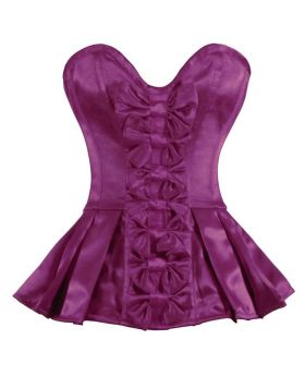 Varvara Bow Corset Mini Dress Authentic Magenta Overbust Sexy Corset