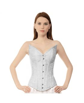 Edwina Authentic Steel Boned Long Lined Overbust Corset