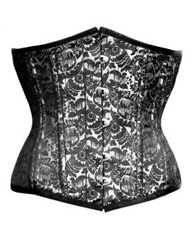 Baldwin Authentic Steel Boned Gothic Waist Training Underbust Corset