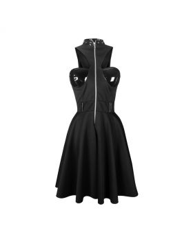 Black hosirey Gothic dress