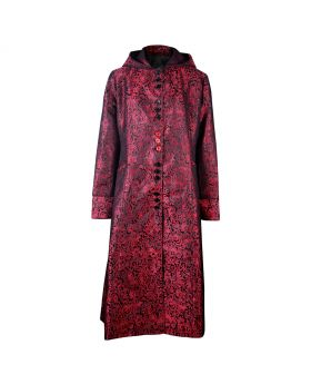 Long ladies red gothic coat