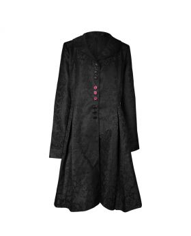 Long ladies black gothic coat