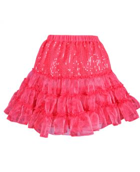 Red organja flaired skirt