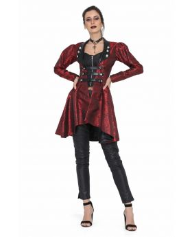 Red gothic brocade jacket