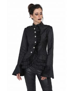 Black brocade stylish jacket