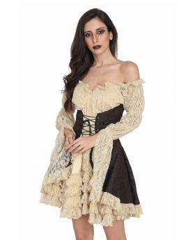 Ladies Victorian Style Steampunk dress.