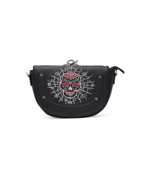 Skull Embroidery Ladies Gothic handbag.
