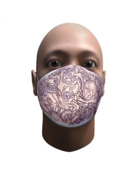 The Double layer cotton printed mask