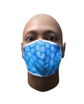 Blue double layer cotton printed mask