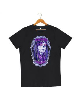 Unisex black gothic dtg printed cotton t-shirt