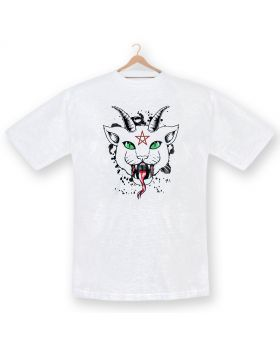 Unisex cat dtg printed cotton t-shirt
